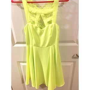 Dresses & Skirts - Neon Green/Yellow Dress - Size Small Worn Once